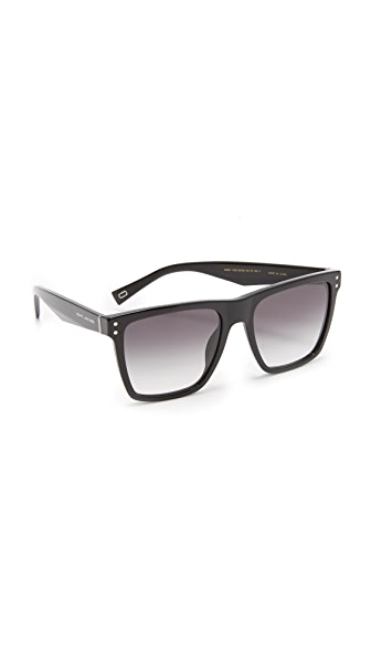 Marc Jacobs Flat Top Sunglasses - Black/Dark Grey
