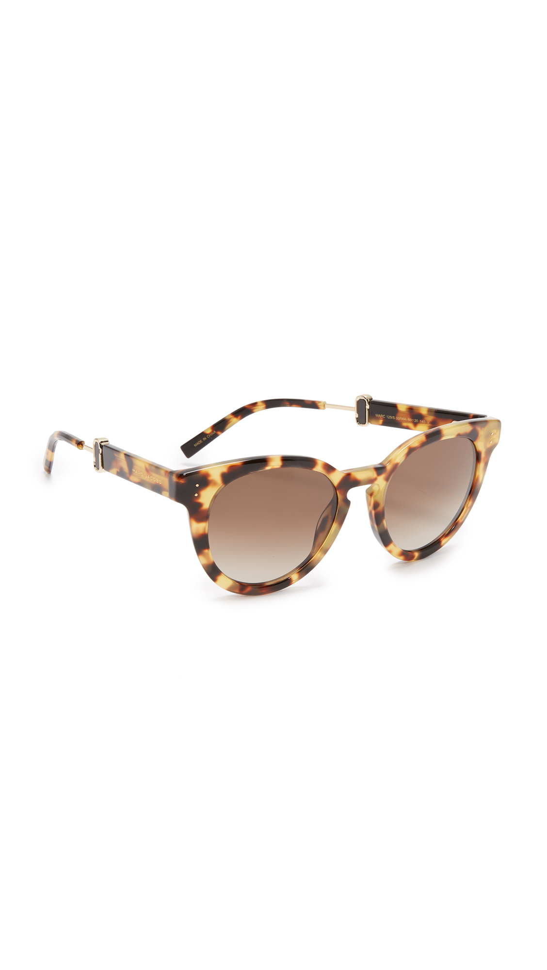 marc jacobs female 211469 marc jacobs round sunglasses spotted havanabrown