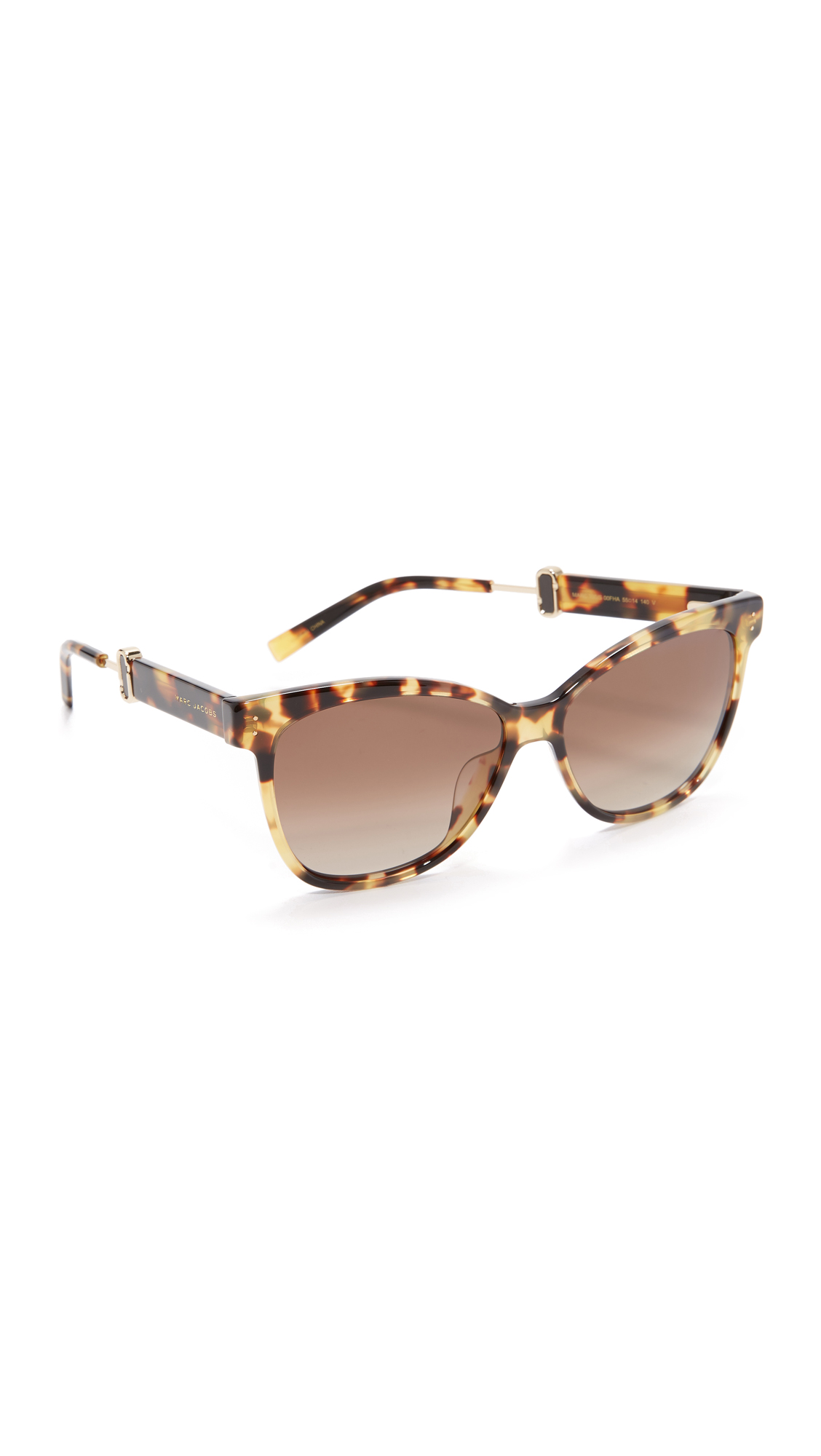 marc jacobs female 211469 marc jacobs classic sunglasses spotted havanabrown