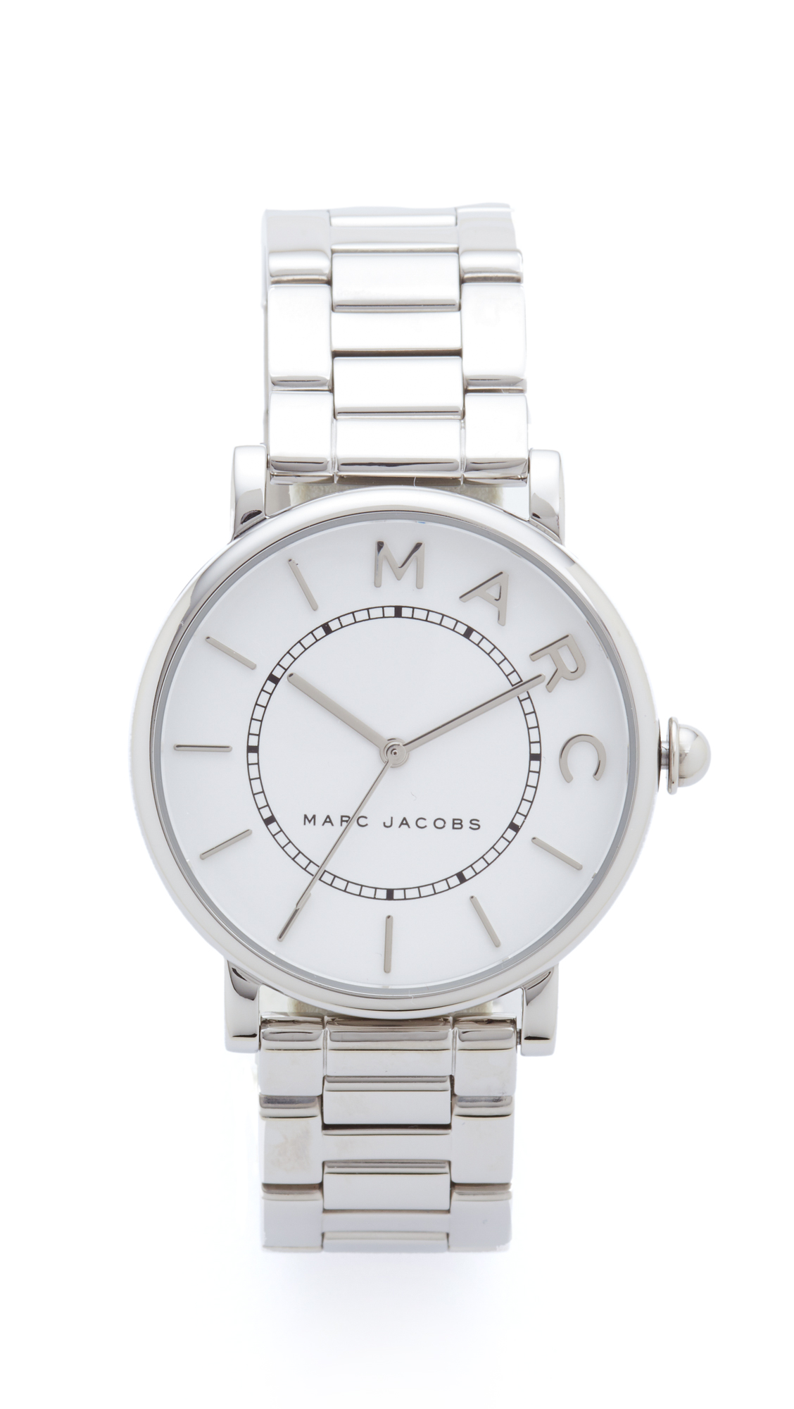 Marc Jacobs Marc Jacobs Classic Watch - Sterling Silver/White Satin