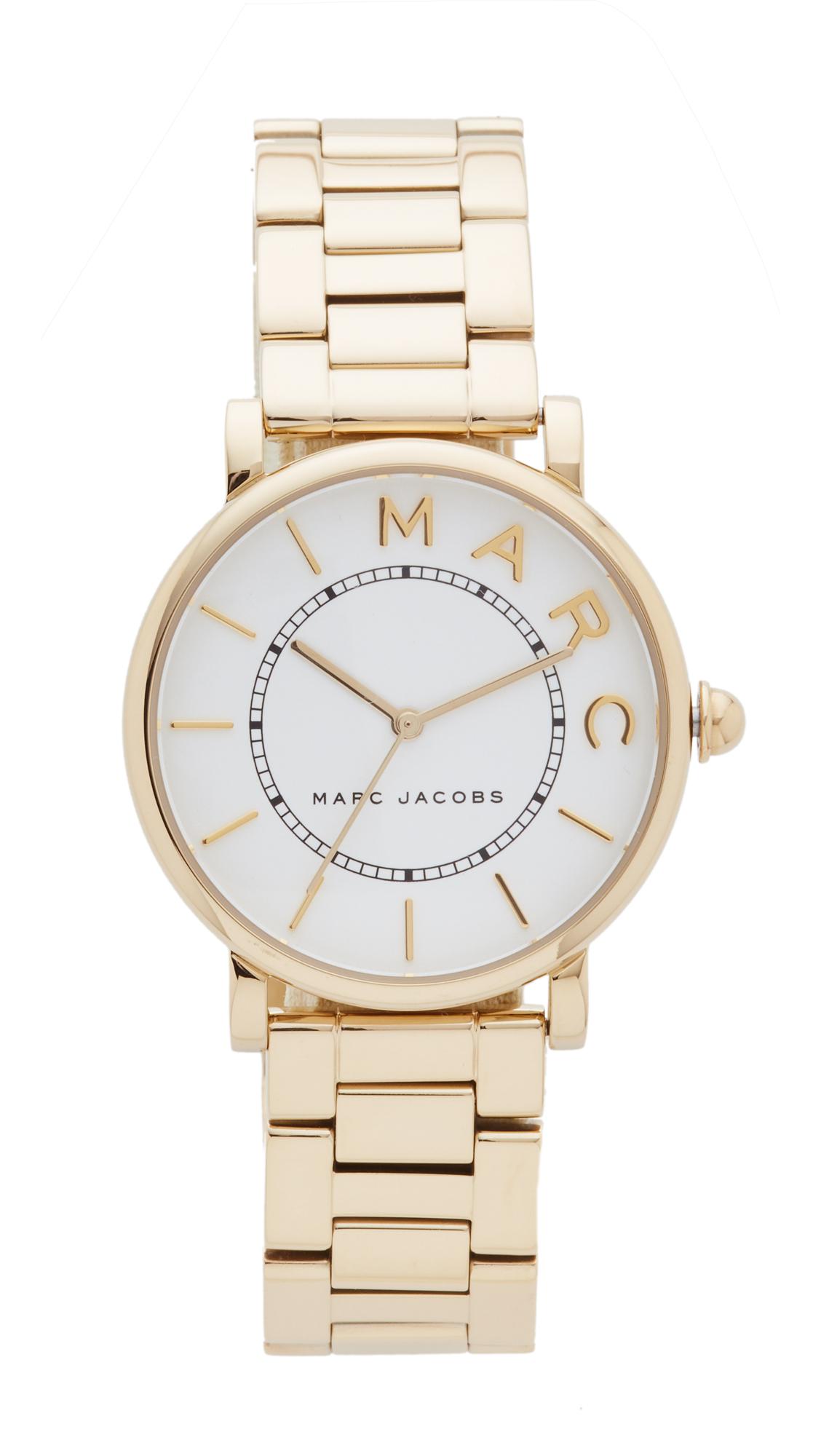 Marc Jacobs Roxy Watch - Gold/White Satin