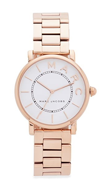 Marc Jacobs Roxy Watch - Rose Gold/White Satin