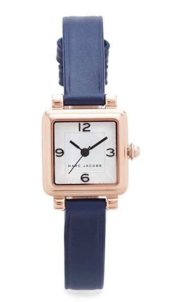 Marc Jacobs Vic Leather Watch - Rose Gold/Silvery White/Navy