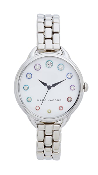 Marc Jacobs Betty Watch - Sterling Silver/White/Sunray