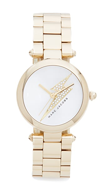 Marc Jacobs Dotty Lightning Bolt Watch - Gold/Silver/Clear
