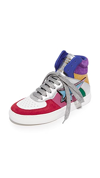 Marc Jacobs Eclipse High Top Sneakers - Rainbow Multi