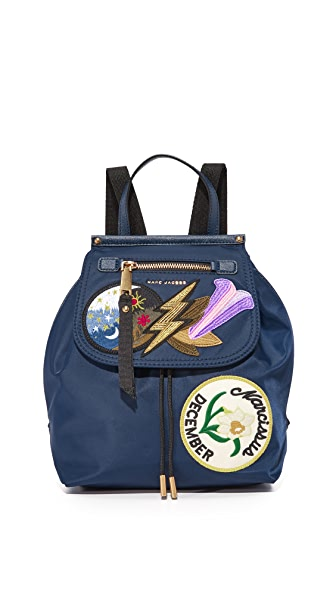 Marc Jacobs Embellished Nylon Zip Pack Backpack