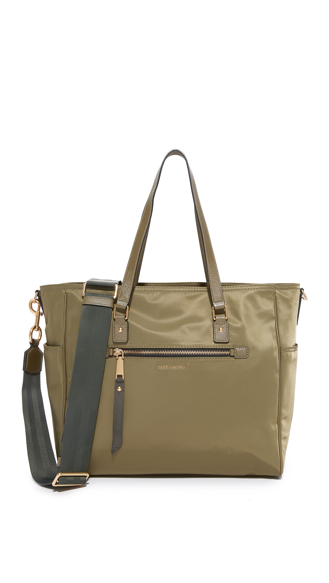 marc jacobs female marc jacobs trooper baby bag army green