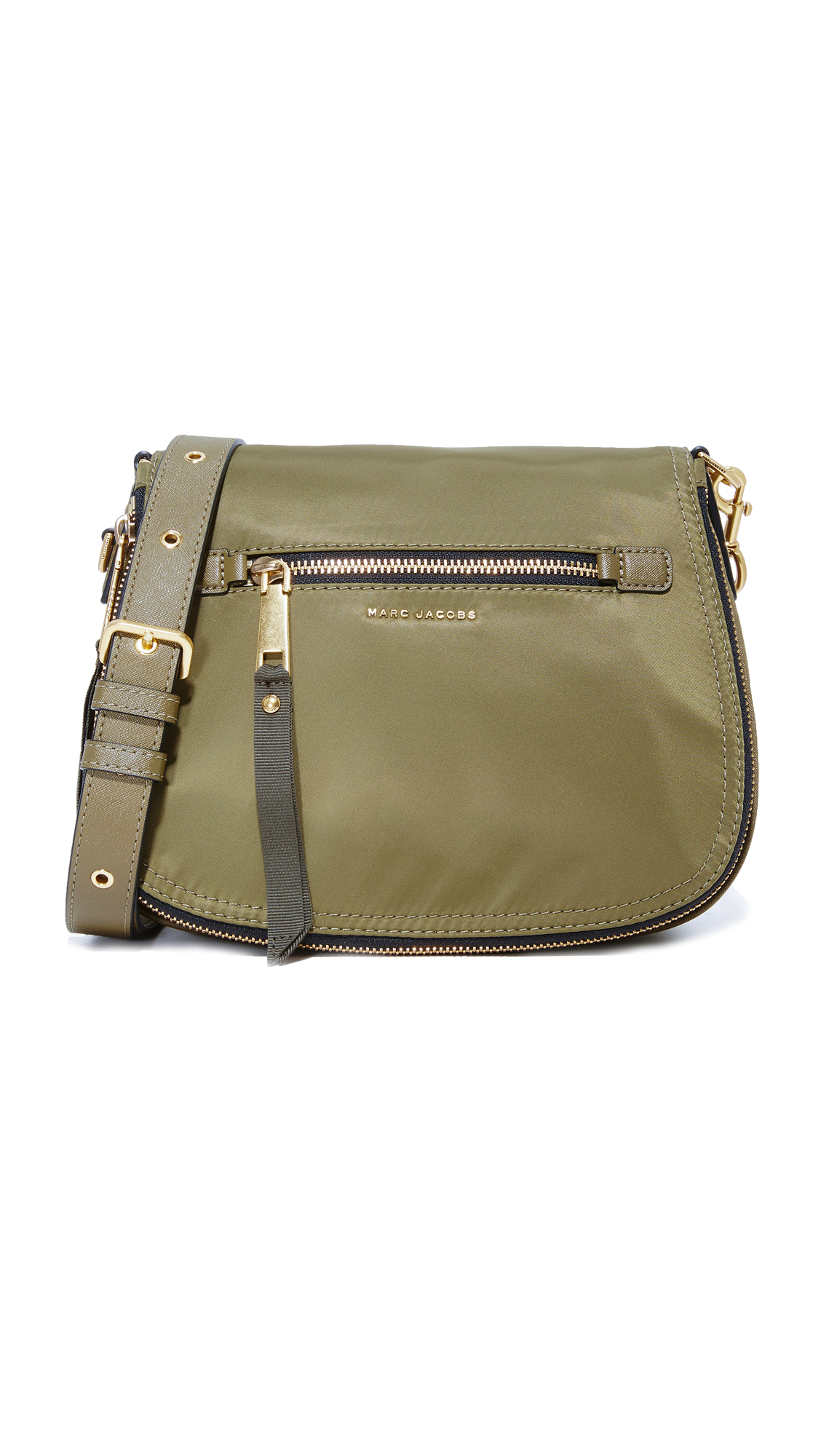 marc jacobs female marc jacobs trooper nomad saddle bag army green