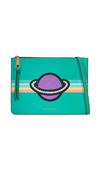 Marc Jacobs Rainbow Flat Cross Body Bag - Evergreen