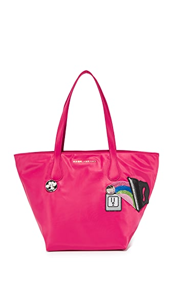 Marc Jacobs Nylon Wingman Tote - Shocking Pink