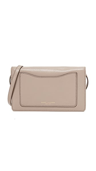 Marc Jacobs Recruit Cross Body Wallet - Mink