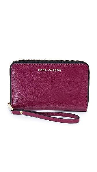 Marc Jacobs Трехцветный кошелек на молнии с ремешком на руку