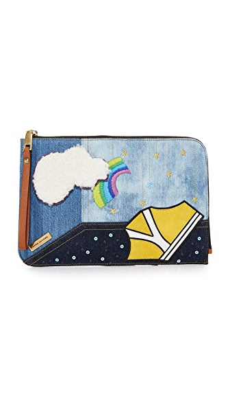 Marc Jacobs Denim Julie Verhoeven Flat Pouch - Denim