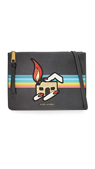 Marc Jacobs Flat Cross Body Bag - Black