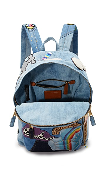 Marc Jacobs Denim Julie Biker Backpack