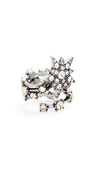 Marc Jacobs Shooting Star Ring - Antique Silver Multi