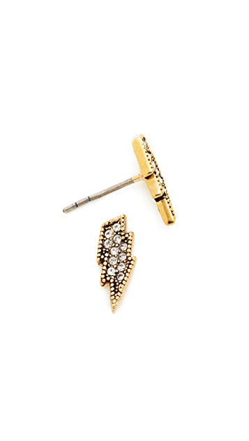 Marc Jacobs MJ Coin Lightning Stud Earrings