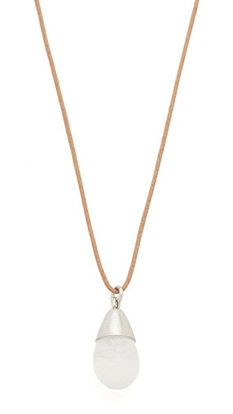 Marc Jacobs Enlightening Pendant Necklace In Crystal/Antique Silver