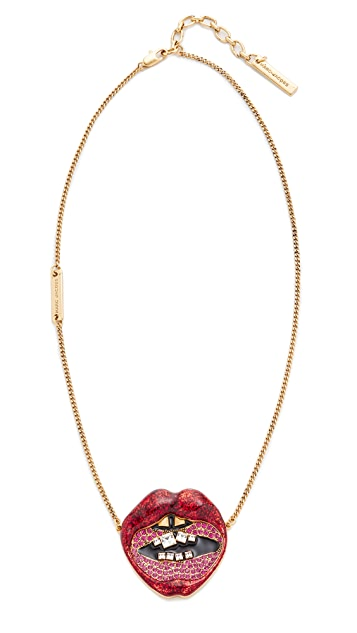 Marc Jacobs Lips in Lips Pendant Necklace
