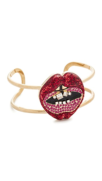 Marc Jacobs Lips In Lips Statement Cuff Bracelet