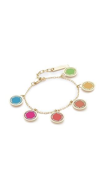 Marc Jacobs Logo Disc Rainbow Statement Bracelet