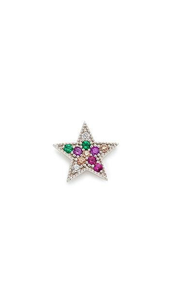 Marc Jacobs Rainbow Star Single Stud Earring