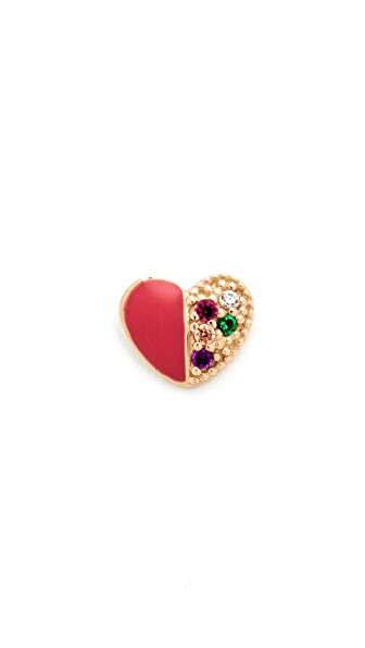 Marc Jacobs Rainbow Heart Stingle Stud Earring