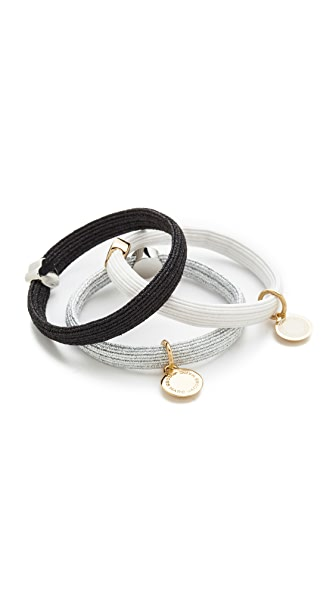 Marc Jacobs Logo Disc Ponytail Holder - Black Multi