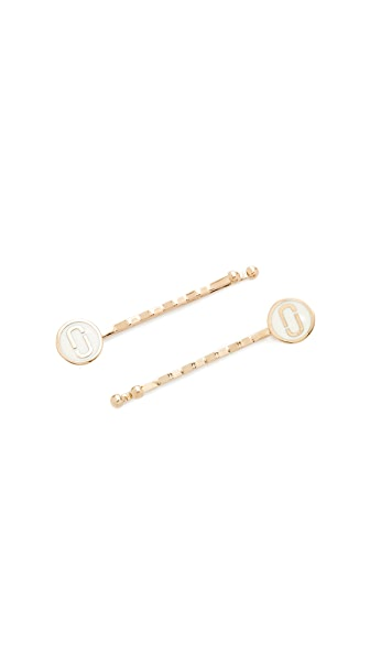 Marc Jacobs Icon Enamel Bobby Set - Cream
