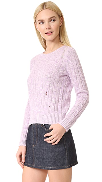 Marc Jacobs Marled Cable Crew Sweater