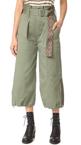 Marc Jacobs Юбка-брюки в стиле карго с поясом