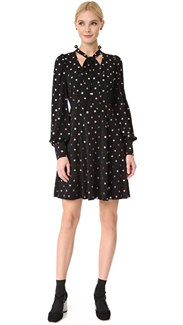 Marc Jacobs Long Sleeve Dress with Tie