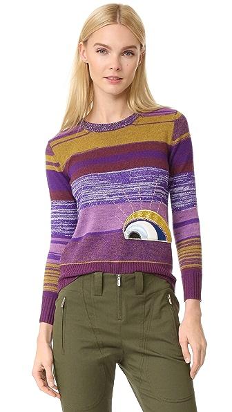 Marc Jacobs Long Sleeve Crew Neck Sweater