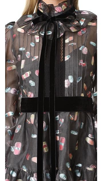 Marc Jacobs Long Sleeve Ruffle Dress