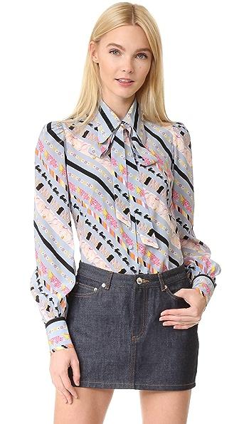 Marc Jacobs Рубашка на пуговицах с объемными рукавами