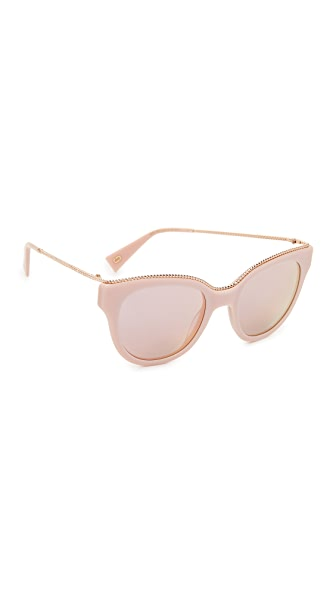 Marc Jacobs Chain Cat Eye Sunglasses In Pink/Grey Rose