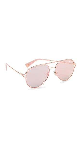 Marc Jacobs Rope Aviator Sunglasses - Gold Pink/Rose Gold