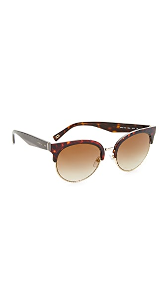 Marc Jacobs Round Sunglasses - Dark Havana/Brown