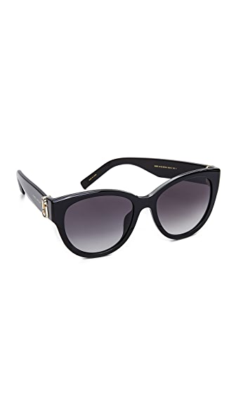Marc Jacobs Double J Cat Eye Sunglasses In Black/Dark Grey