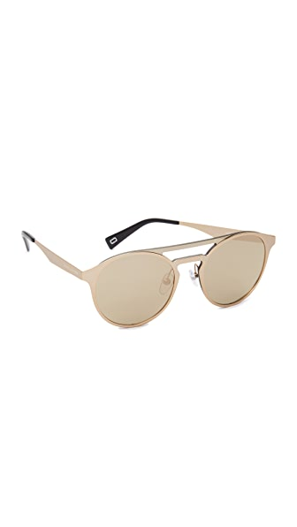Marc Jacobs Round Aviator Sunglasses - Gold/Ivory
