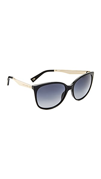 Marc Jacobs Cat Eye Sunglasses - Black/Dark Grey