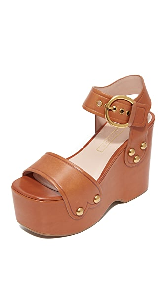 Marc Jacobs Lana Wedge Sandals - Brown