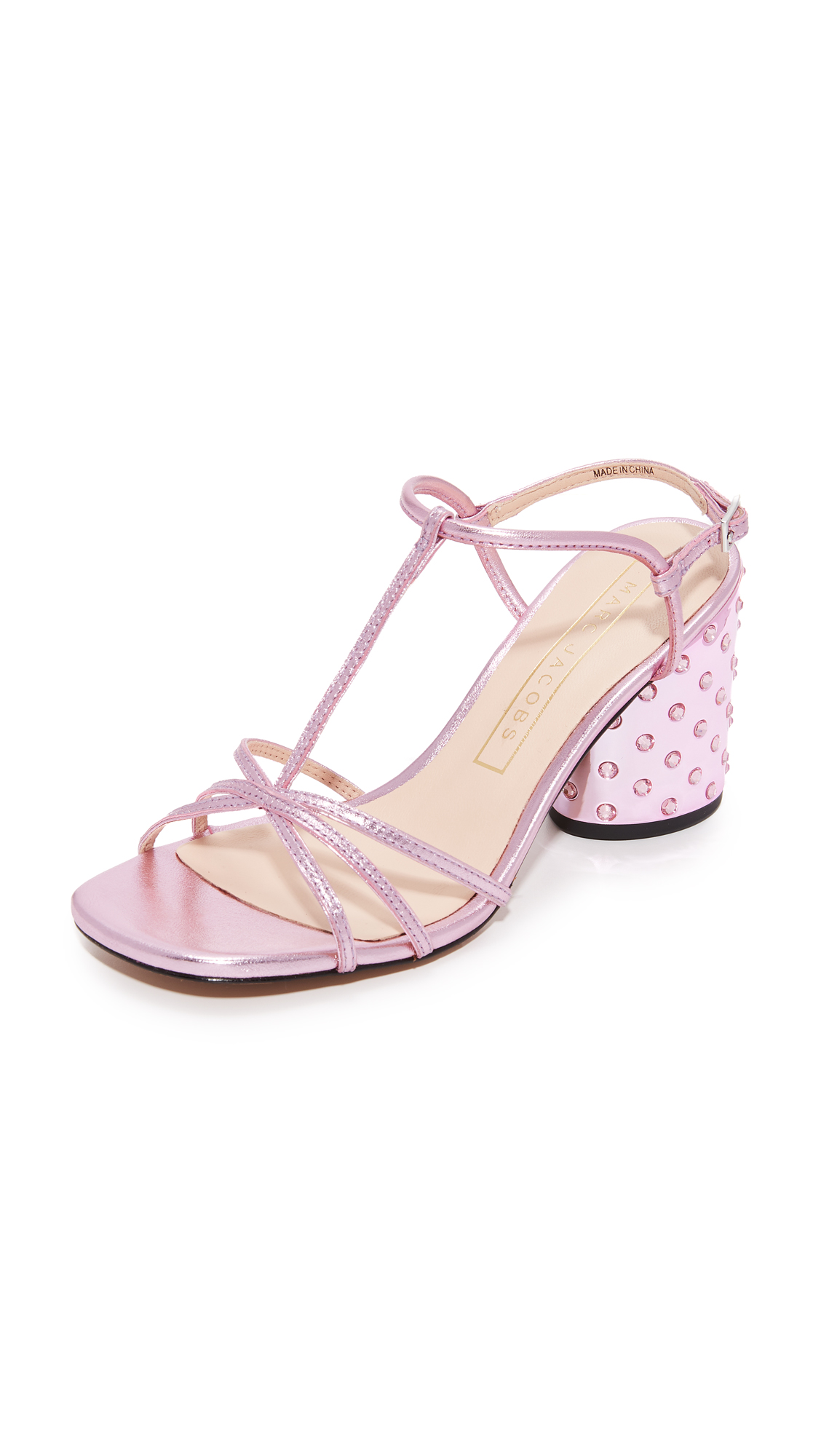 Marc Jacobs Sheena T-Strap Sandals - Pink