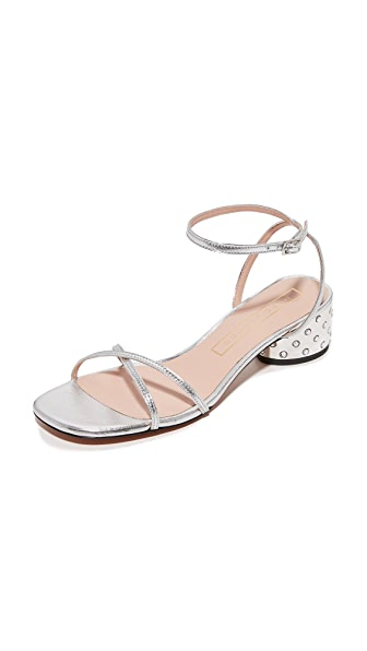Marc Jacobs Sybil Ankle Strap Sandals - Silver