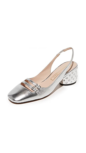 Marc Jacobs Bette Slingback Pumps - Silver