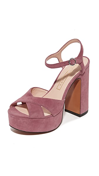 Marc Jacobs Lust Platform Sandals - Dusty Pink