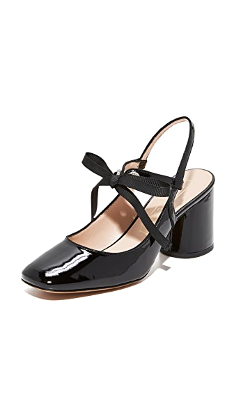 Marc Jacobs Bobbi Slingback Pumps - Black