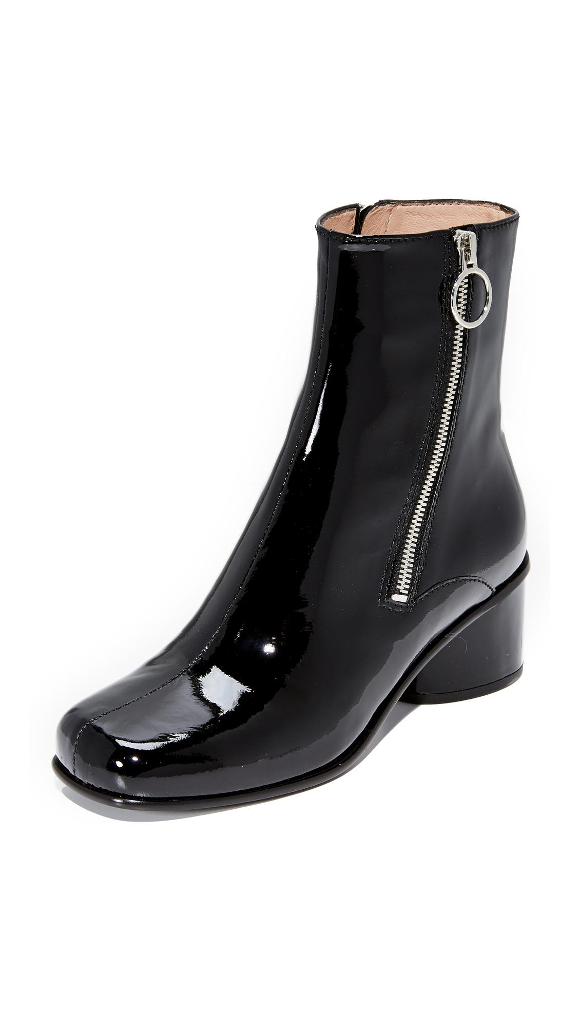 Marc Jacobs Double Zip Booties - Black