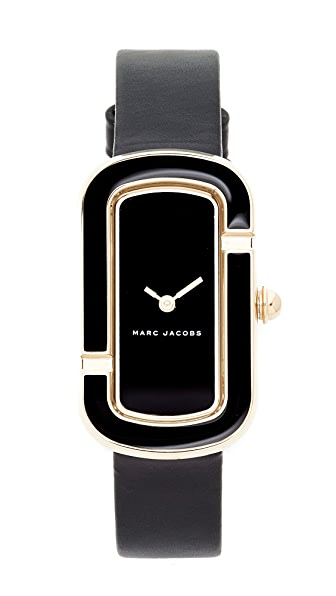 Marc Jacobs The Jacobs Leather Watch - Gold/Black/Black